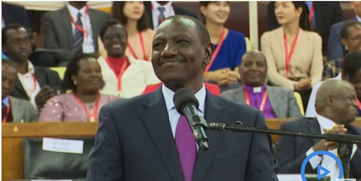 Deputy President Dr William Ruto during the pastors conference in Nairobi