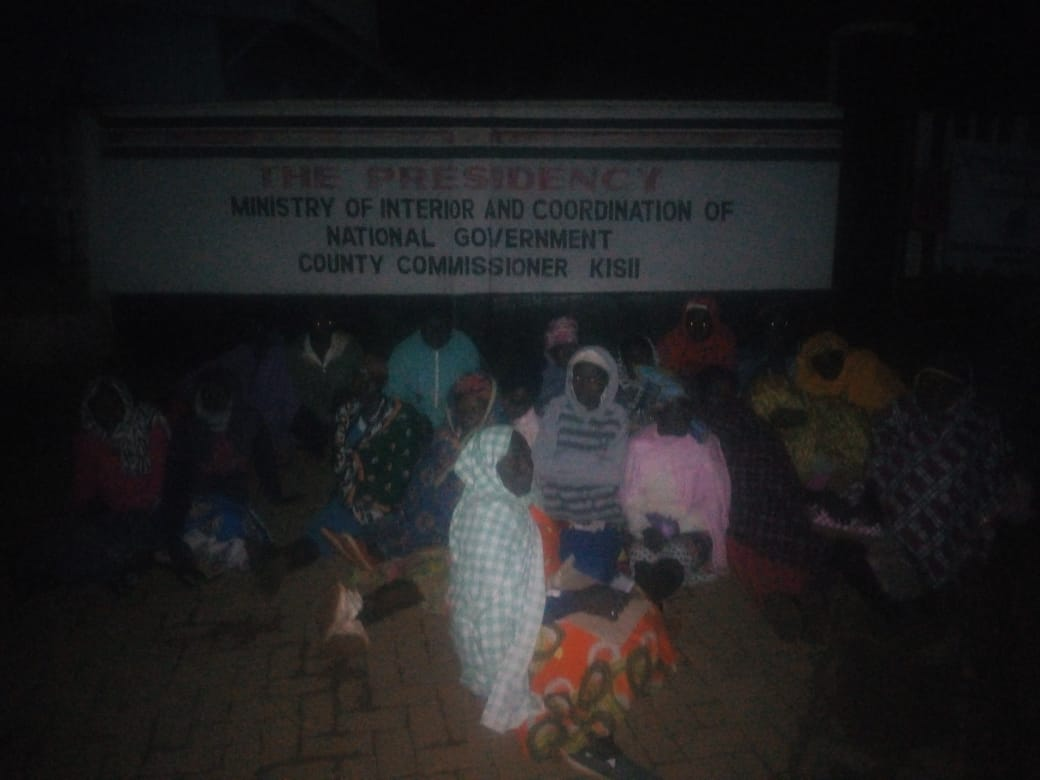 Shame as Parents sleep on cold tarmac over birth certificates in Kisii