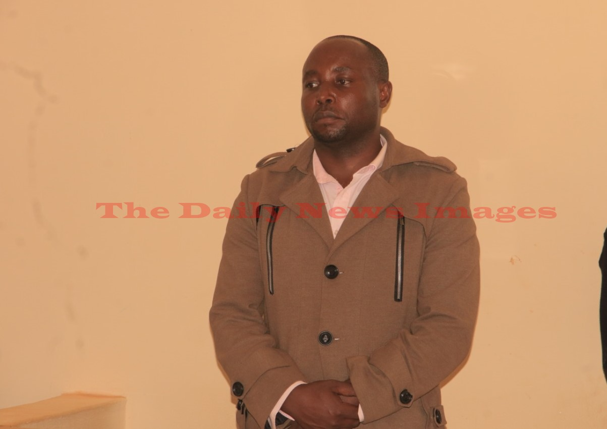 Kisii Deputy County Speaker also the Masige East MCA at Ogembo Law Courts on Thursday Photo/Rogers