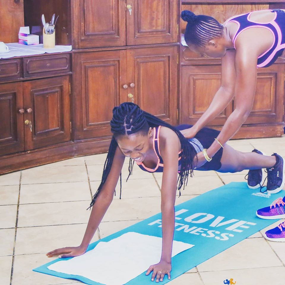 Singer Akothee at P.E with her Daughter. Photo/Akothee
