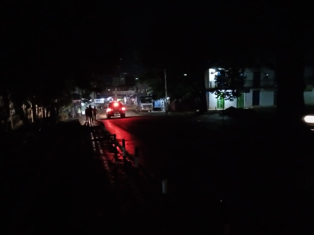 The Dark Kisii Hotel Junction to County Headquarters street.