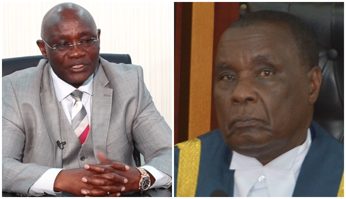 Kisii Governor James Ongwae and County Assembly Speaker David Kombo Photo/File